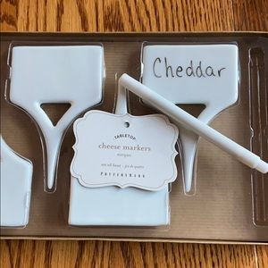 Pottery barn cheese markers - Set of 4